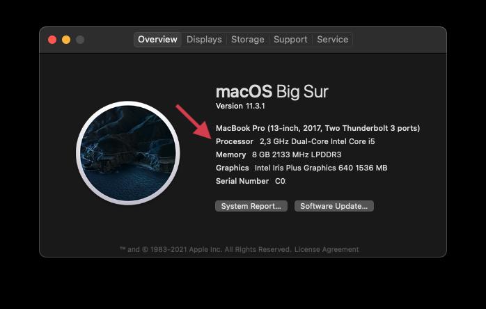 Como ver o processador no Mac